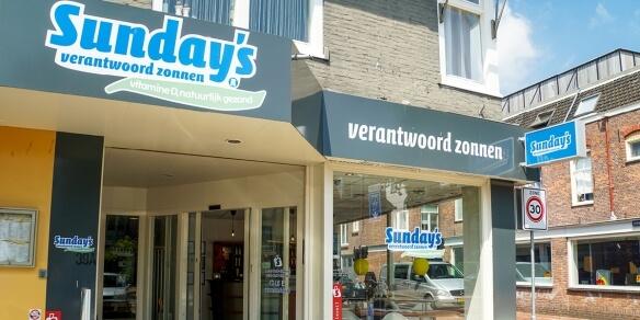 De entree van zonnestudio Sunday's in Alkmaar