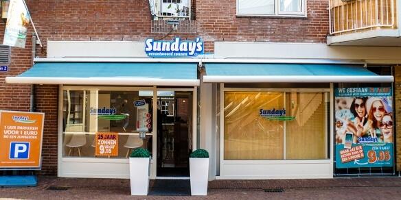 De entree van zonnestudio Sunday's Amersfoort